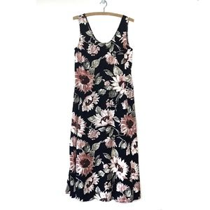 Vintage 90s Express Floral Slip Maxi Dress